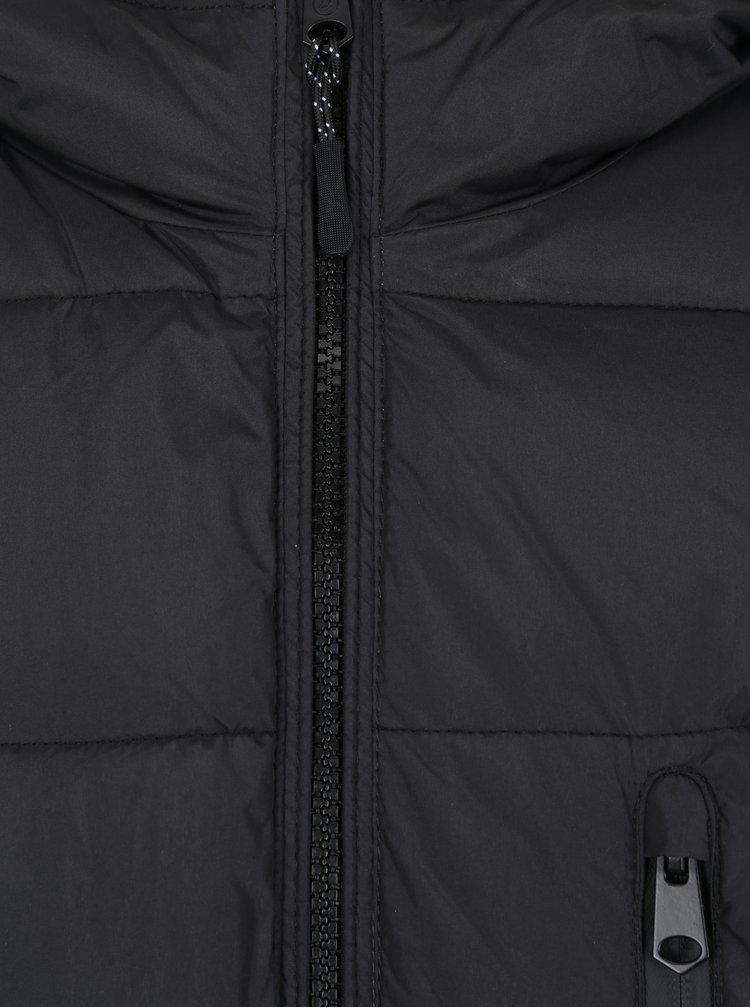 Černá prošívaná bunda Burton Menswear London