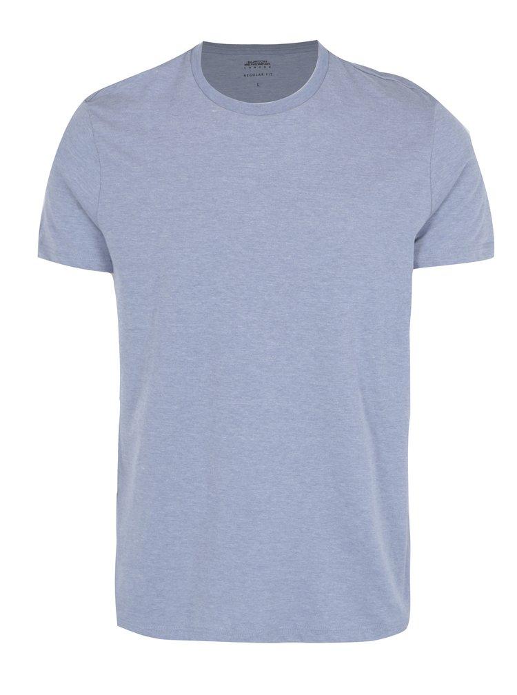 Světle modré žíhané tričko Burton Menswear London
