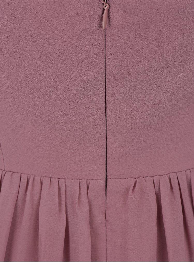 Starorůžové šaty bez rukávů s ozdobnou aplikací Little Mistress
