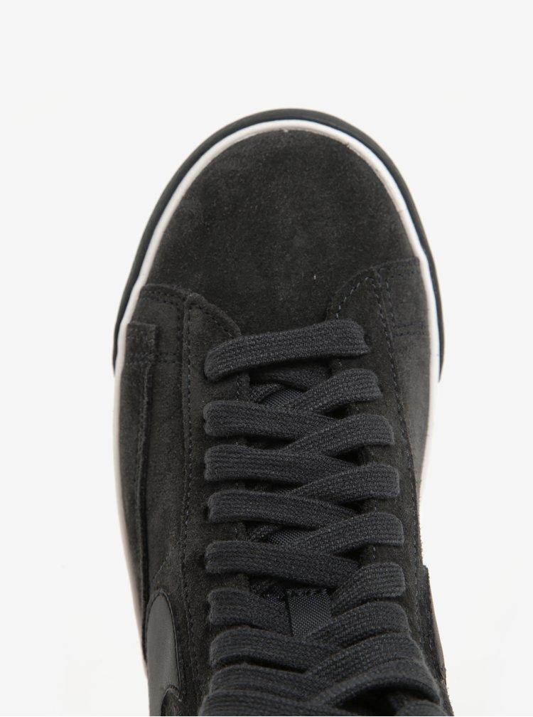 Tmavě šedé dámské semišové tenisky Nike Blazer Mid