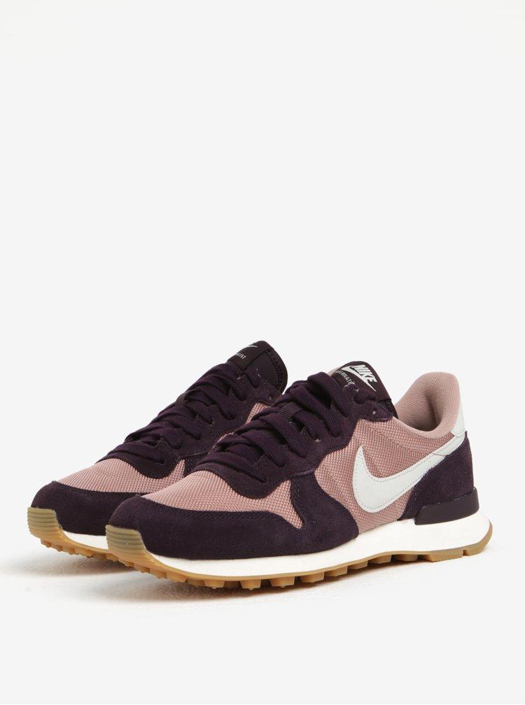 Fialovo-ružové dámske tenisky Nike Internationalist