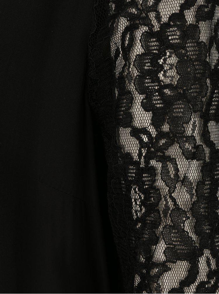 Černá dámská halenka s krajkovými rukávy Broadway Saniya