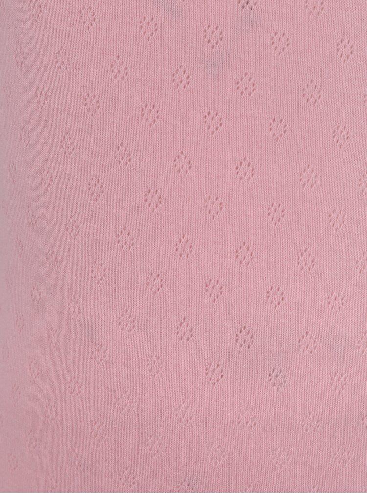 Sada dvou holčičích košilek v růžové a bílé barvě 5.10.15.