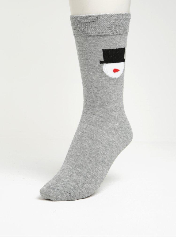 Vánoční sada tří párů vzorovaných ponožek v dárkové krabičce Jack & Jones Gift Box