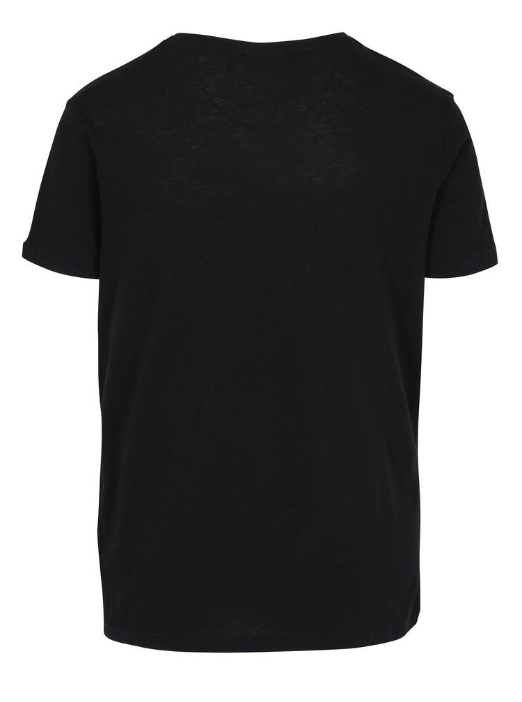 Čierne pánske tričko s krátkym rukávom Broadway Rance
