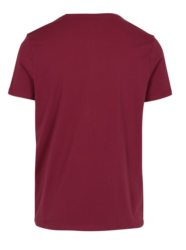 Vínové pánské tričko s krátkým rukávem Broadway Bennie