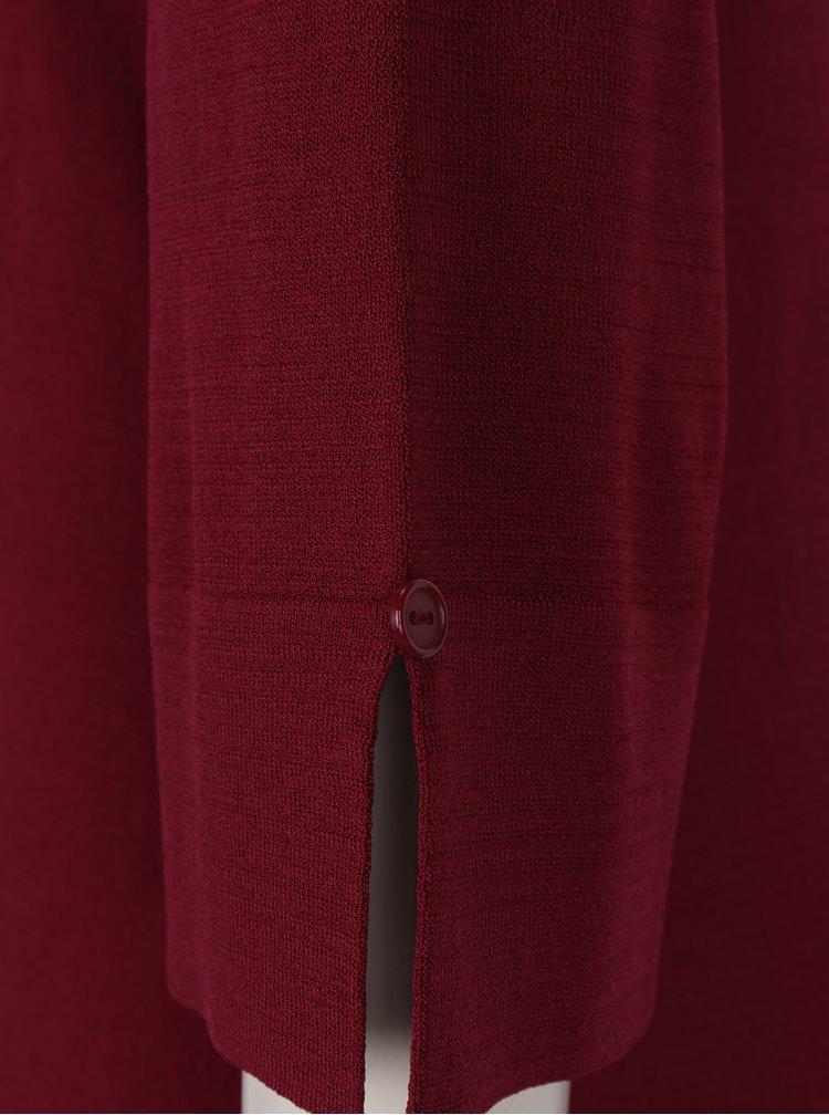 Vínové šaty s 3/4 rukávem Yest