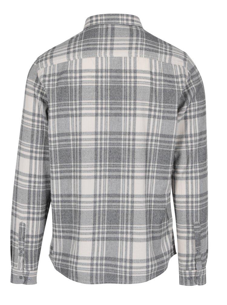 Krémovo-šedá pánská kostkovaná košile Broadway Patsy