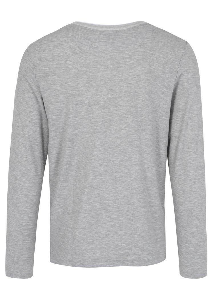 Světle šedé žíhané tričko Jack & Jones Core Saint