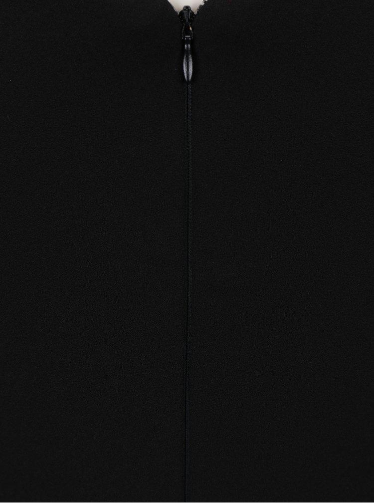 Černé pouzdrové šaty s uzlem v dekoltu ZOOT