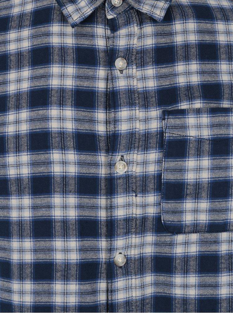 Modrá károvaná košile Jack & Jones Vintage Midleton