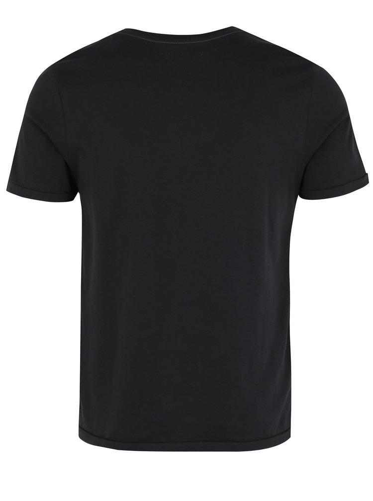 Tricou negru cu print Pink Floyd Jack & Jones Rock Music Pink Floyd