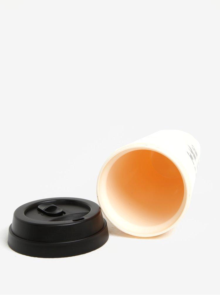 Světle růžový termohrnek s potiskem ban.do 470 ml