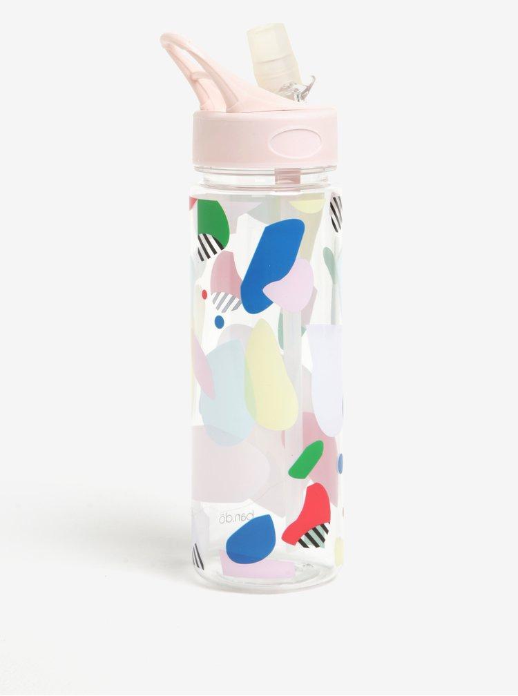 Sticla transparenta multicolora fara BPA -  ban.do 700 ml