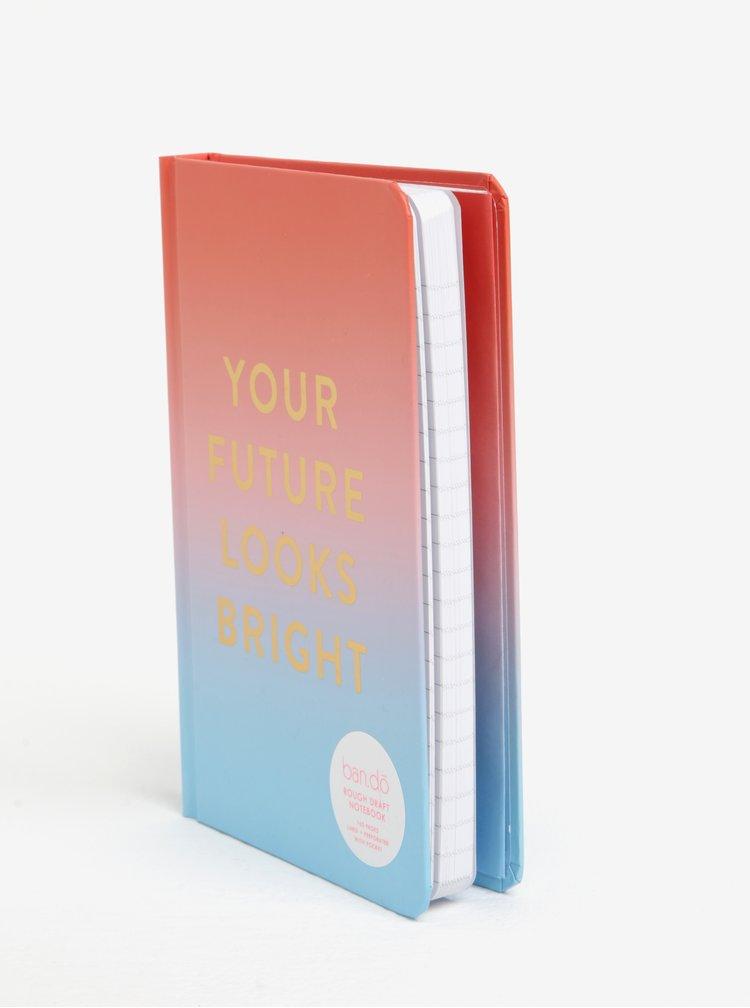 Růžovo-modrý zápisník ban.do Your future looks bright