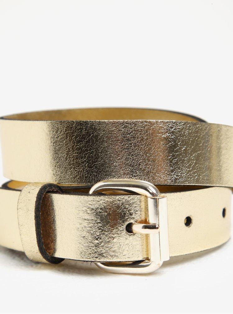 Metalický pásek ve zlaté barvě Pieces Alina