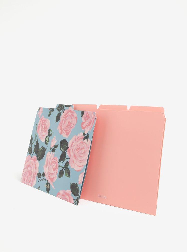 Sada šesti růžovo-tyrkysových desek ban.do Rose parade