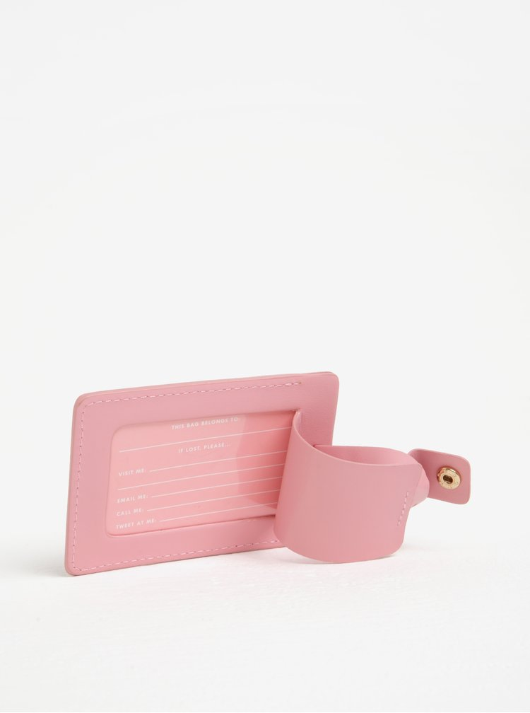 Suport roz pentru etichete de bagaje -  ban.do Available for weekends