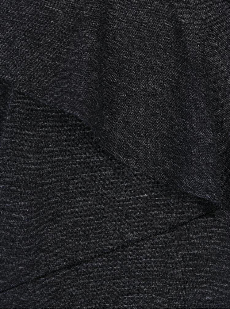 Tmavě šedý žíhaný top s volánem Selected Femme Elma
