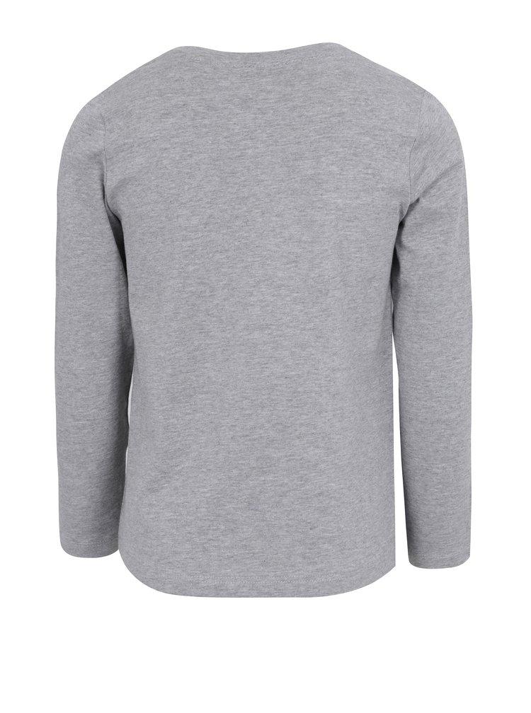 Světle šedé holčičí tričko s flitry name it Happa