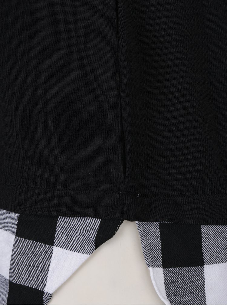 Bluza neagra cu aspect de camasa si croi asimetric - Haily's Linda