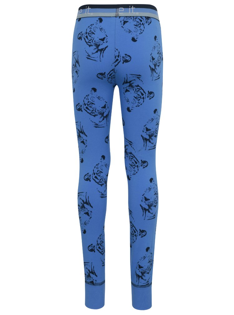 Modré klučičí vzorované podvlékací kalhoty Name it Varnyva