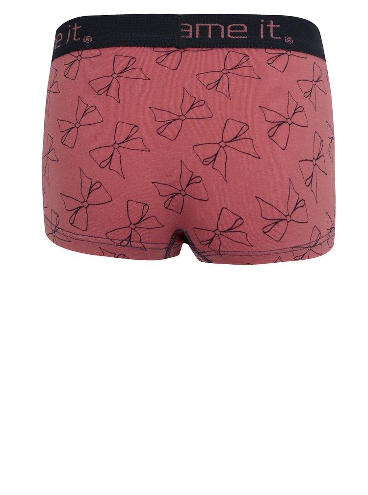 Růžové holčičí vzorované kalhotky name it Vionava