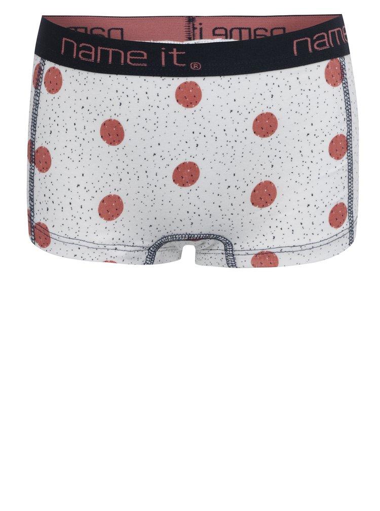 Krémové holčičí vzorované kalhotky name it Vionava