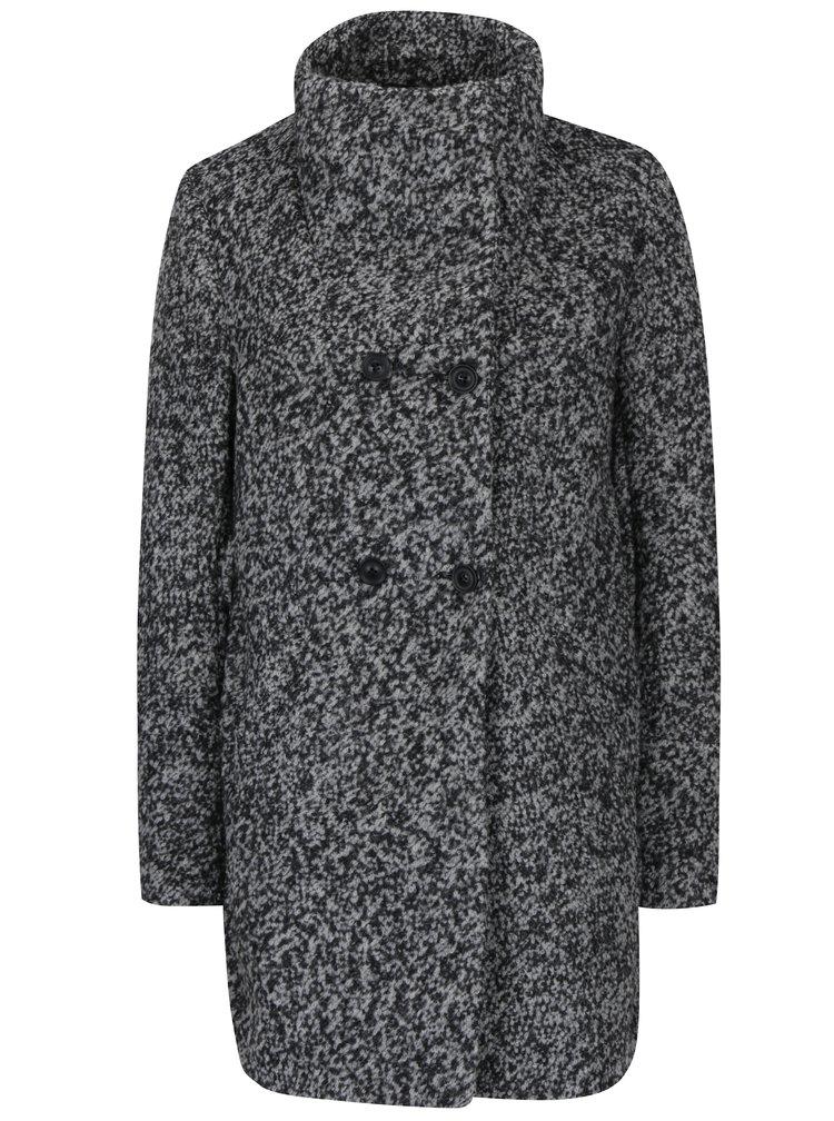 Palton gri din stofa boucle si amestec de lana - Haily's Sina