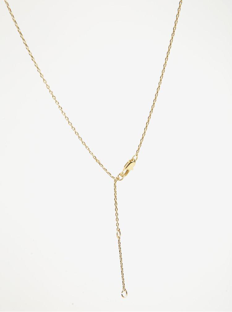 Řetízek s přívěskem klíče ve zlaté barvě Pieces Anchor