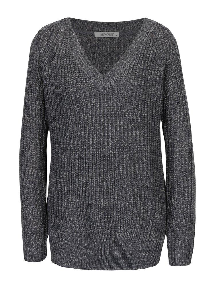 Tmavě šedý dlouhý svetr Haily´s Sonja