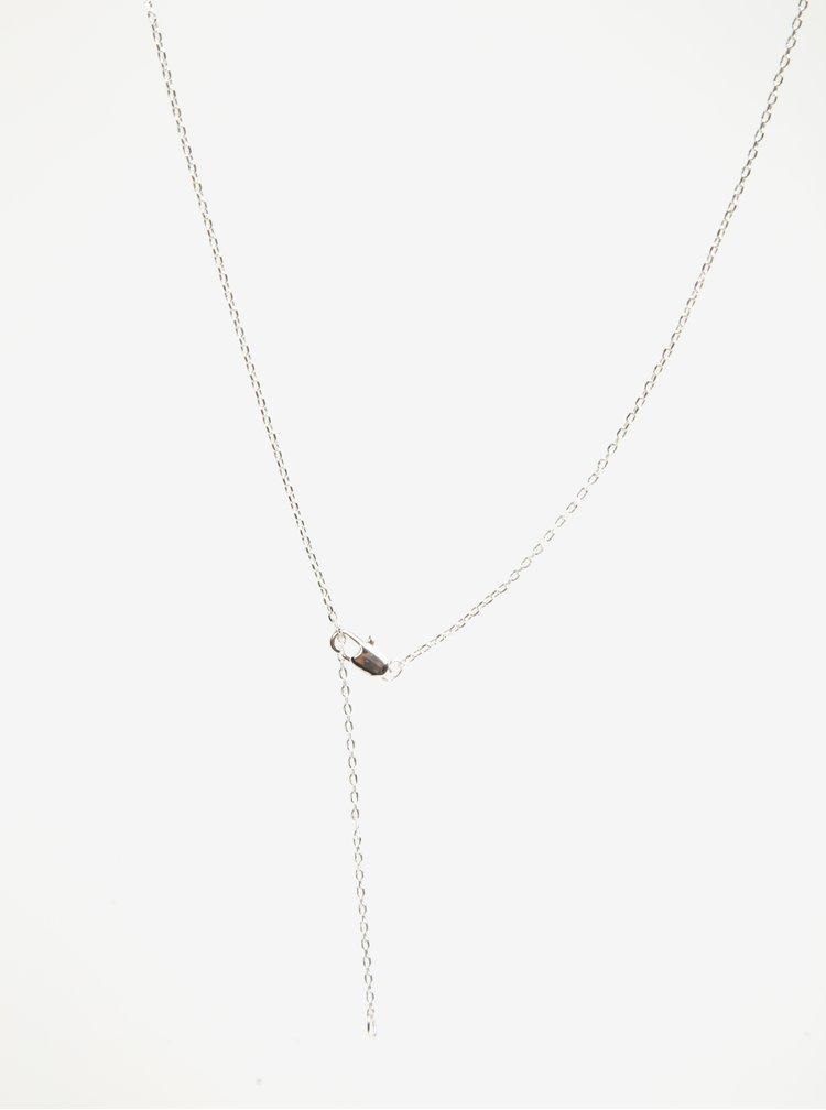 Řetízek s přívěškem kroužku ve stříbrné barvě Pieces Anchor
