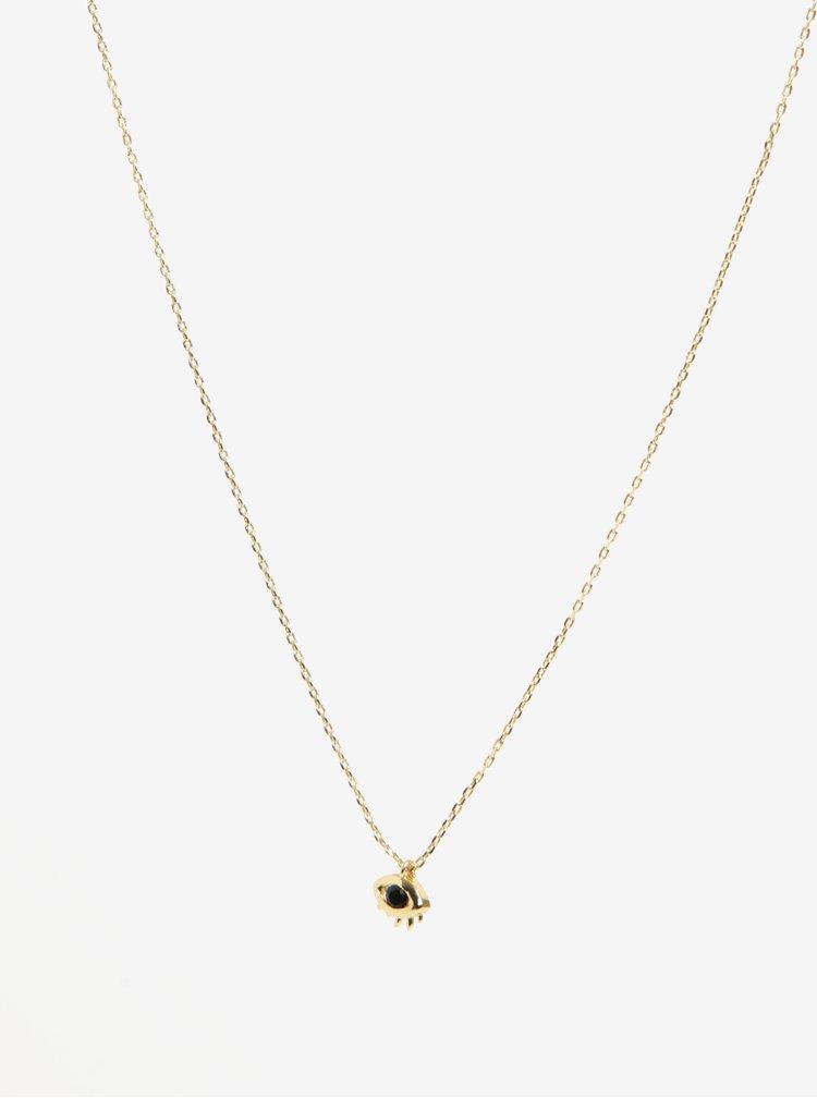 Řetízek s přívěškem oka ve zlaté barvě Pieces Anchor