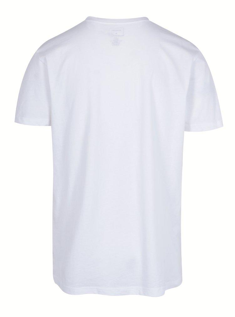 Tricou basic alb cu print Quiksilver Tees