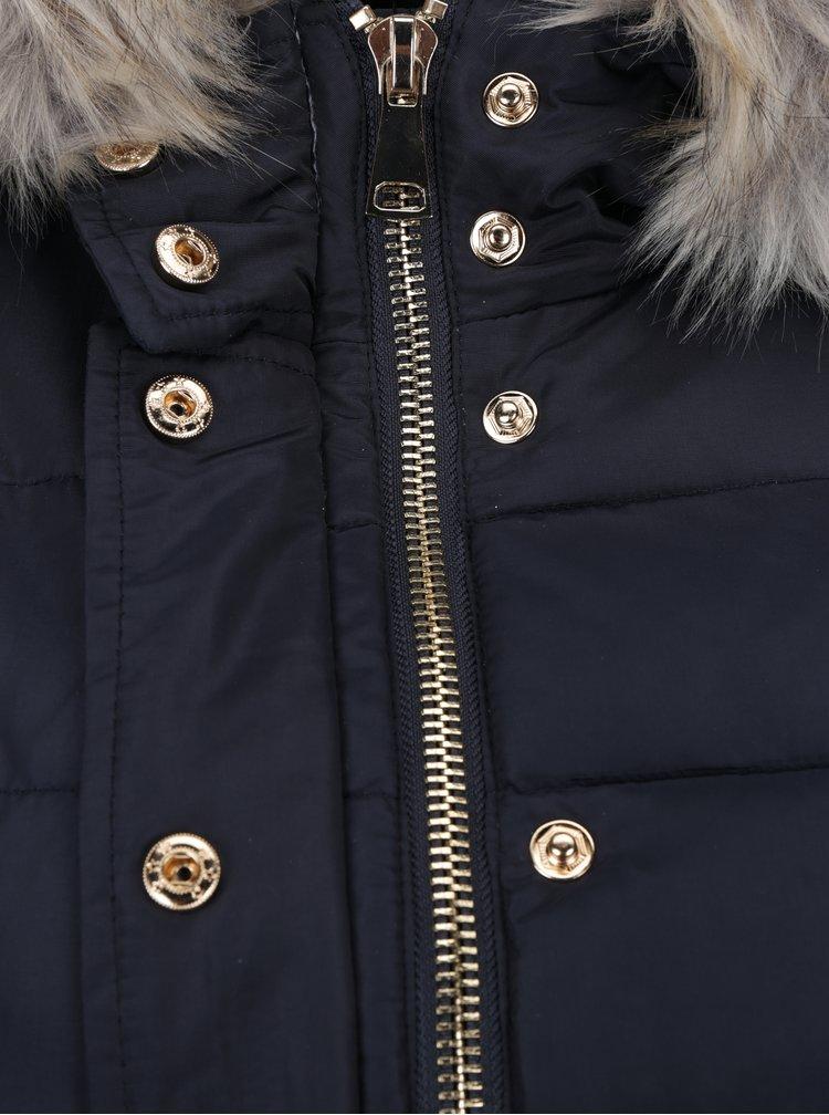 Tmavě modrá prošívaná bunda s kapucí Haily´s Cleo