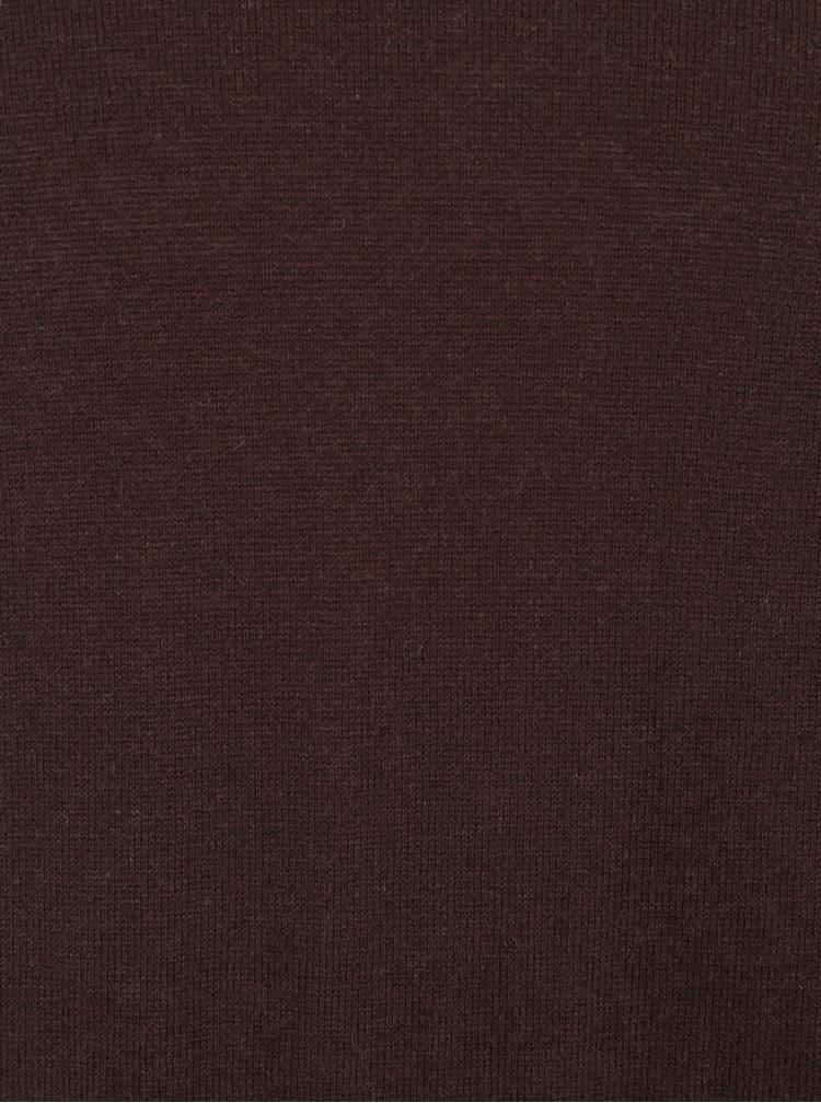 Pulover maro cu decolteu anchior Jack & Jones Luke Premium