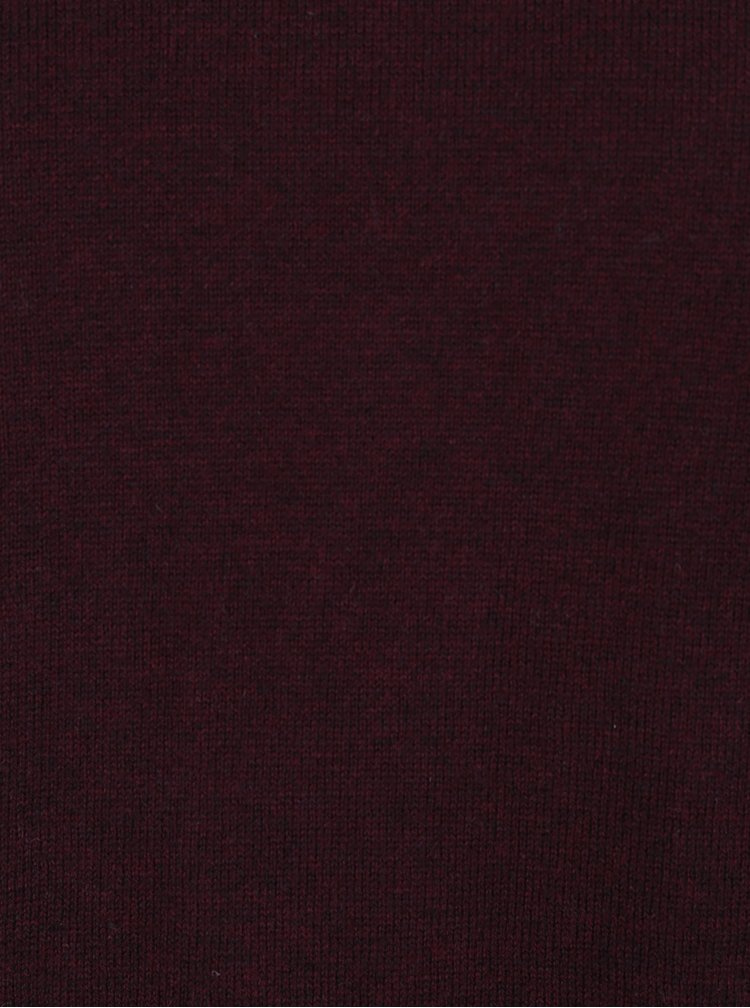 Pulover bordo cu decolteu anchior Jack & Jones Luke Premium