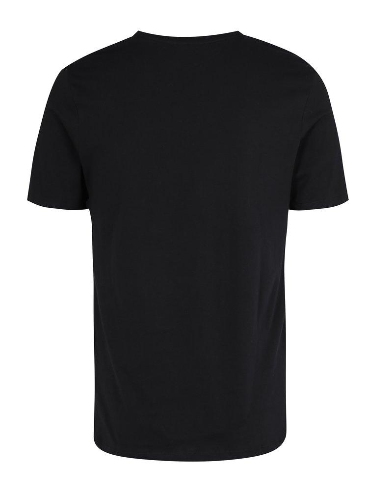 Čierne tričko s véčkovým výstrihom Selected Homme