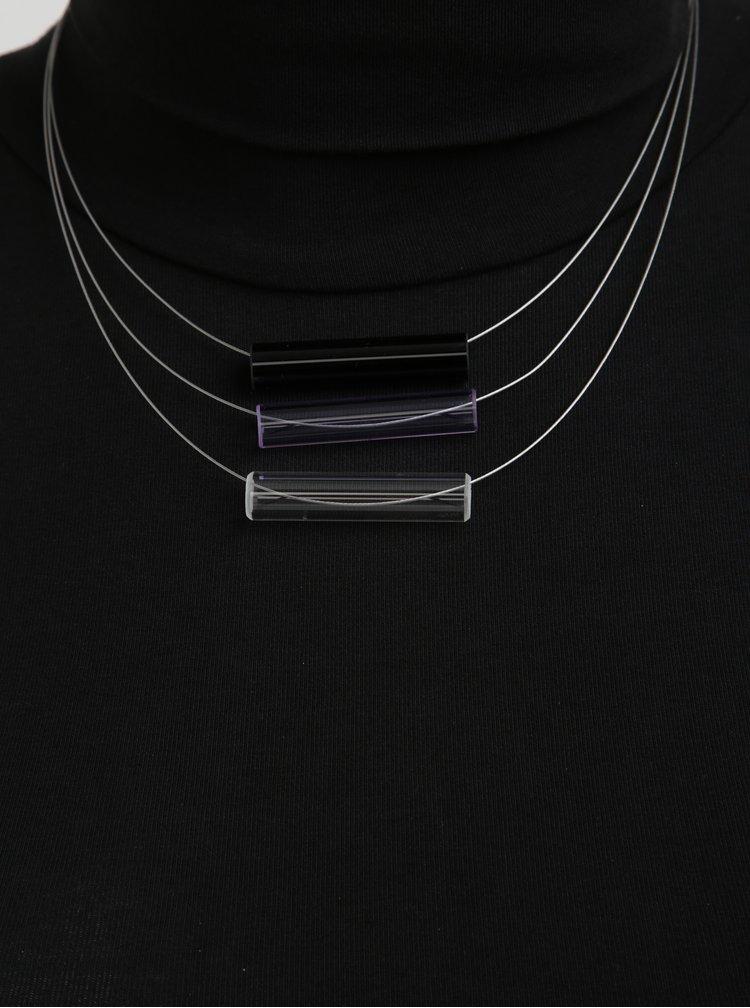 Černo-modrý skleněný náhrdelník KO-RA-LE Tri