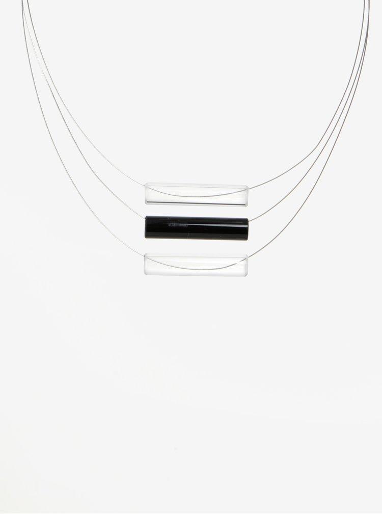 Colier handmade cu pandantive tubulare negre din sticla -  KO-RA-LE Tri