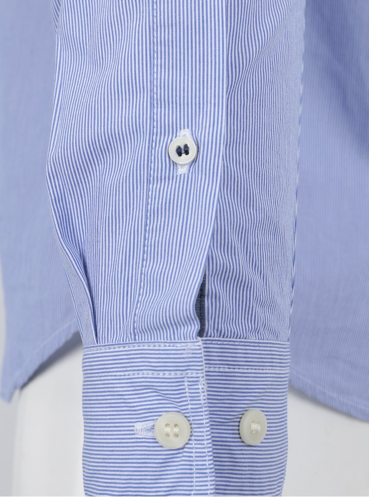 Camasa florala slim fit bleu&alb in dungi Selected Homme