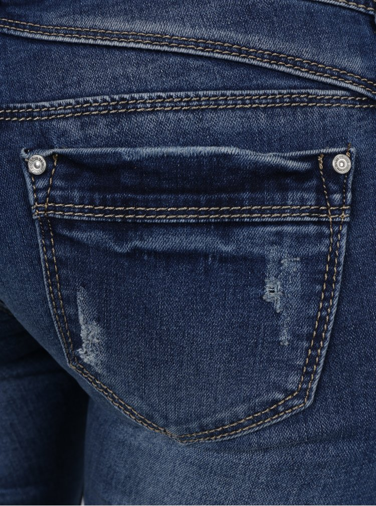 Modré džíny s potrhaným efektem a nízkým pasem Haily's Camila