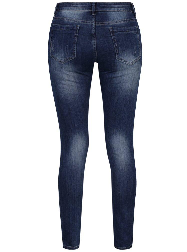 Modré džíny s vyšitými květy Haily's Geisha