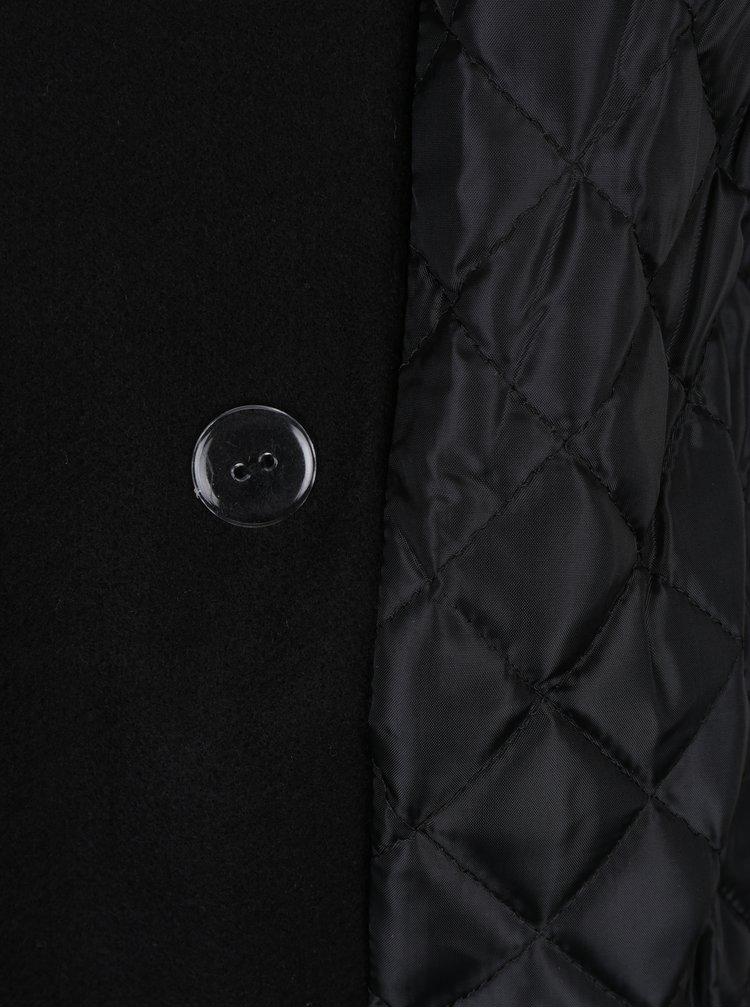 Černý kabát s podšívkou ZOOT