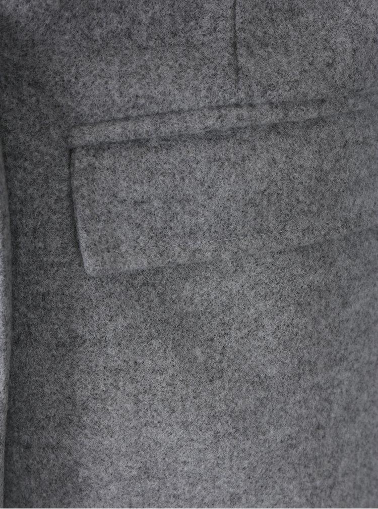 Šedý kabát s podšívkou Zoot