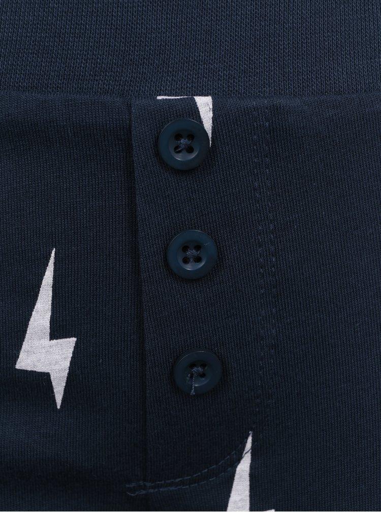 Tmavě modré klučičí pyžamo s potiskem name it Misto