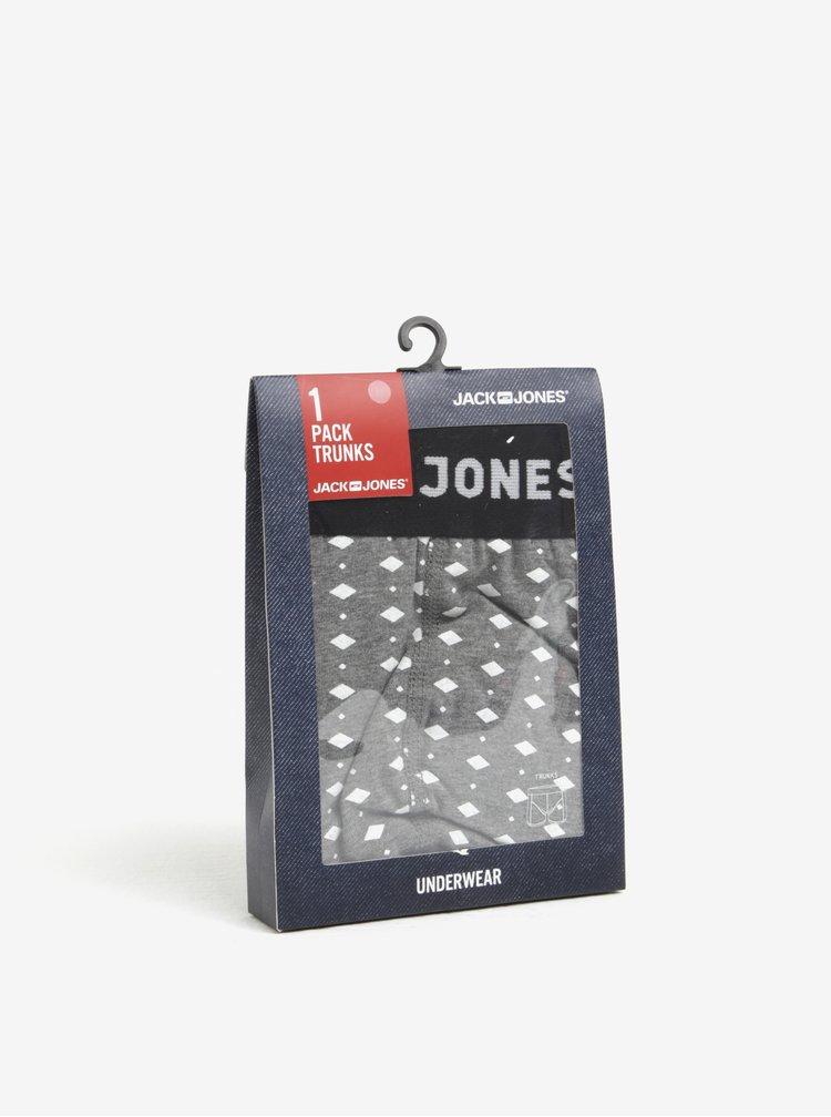 Sivé vzorované boxerky Jack & Jones Candy