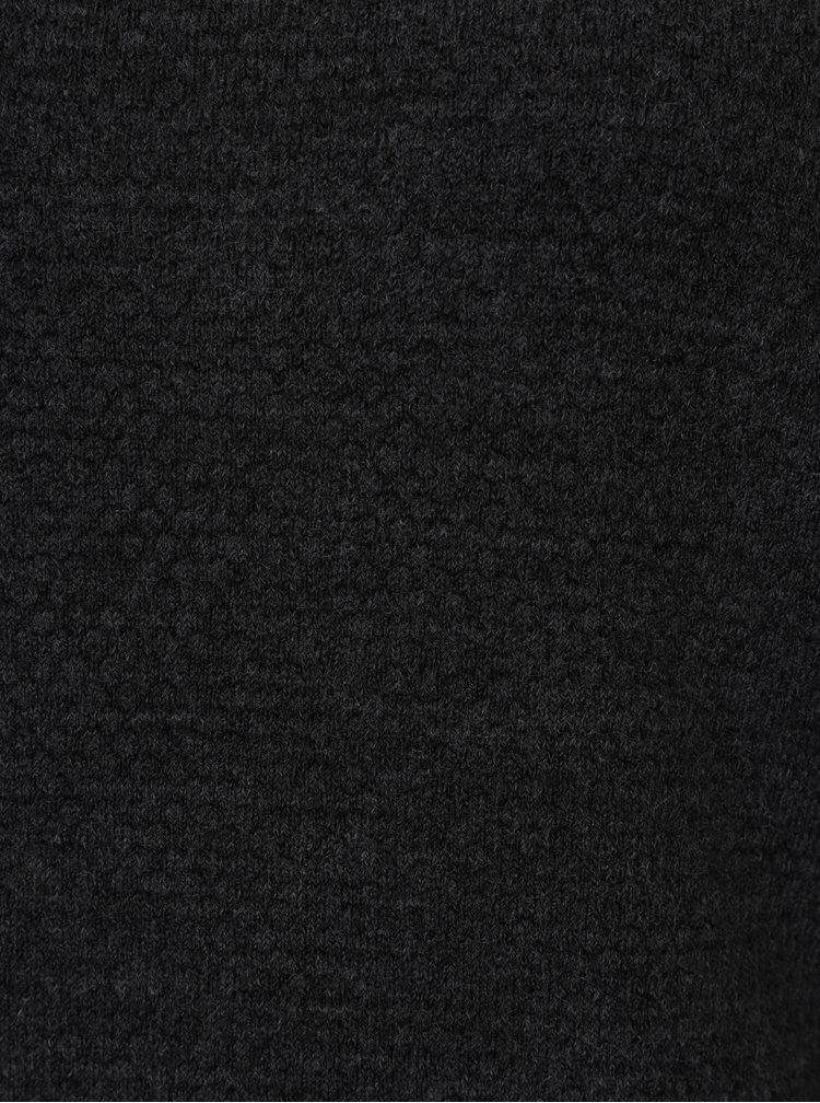 Tmavě šedý lehký svetr Jacqueline de Yong Friends