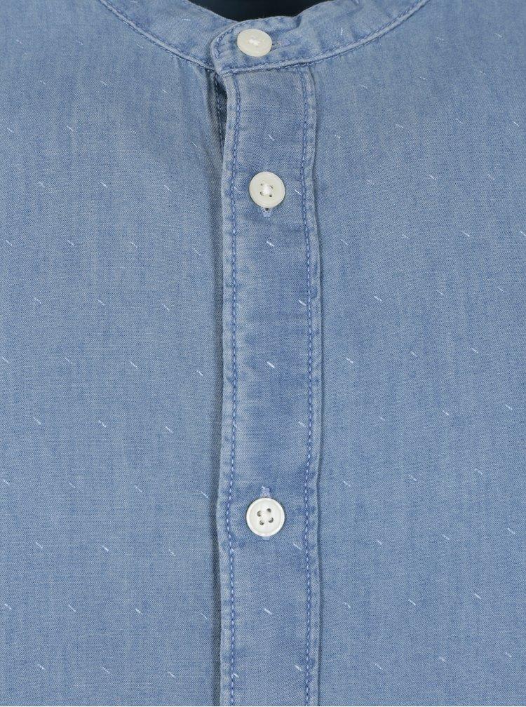 Světle modrá vzorovaná slim fit košile Selected Homme One Robert