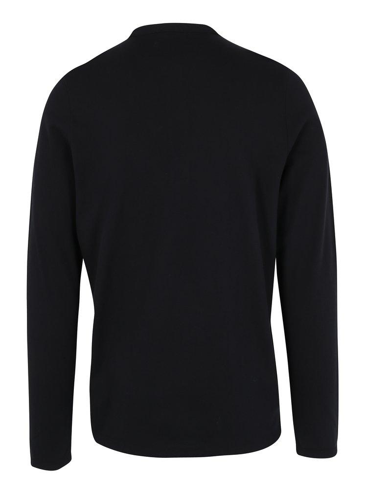 Bluza polo neagra cu guler tunica Selected Homme Edan